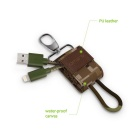 Omars MFi USB to Lightning Cable in Canvas Bag - Yellow Camouflage