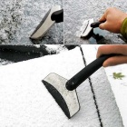 ZIQIAO Car Stainless Steel Snow Shovel Cleaning Tool - Black + Silver
