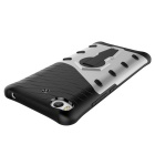 TPU + PC Protective Back Case w/ Holder for Xiaomi 5S - Black + Silver