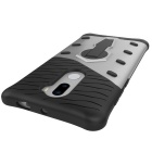 TPU + PC Protective Back Case for Xiaomi 5S Plus - Black + Silver
