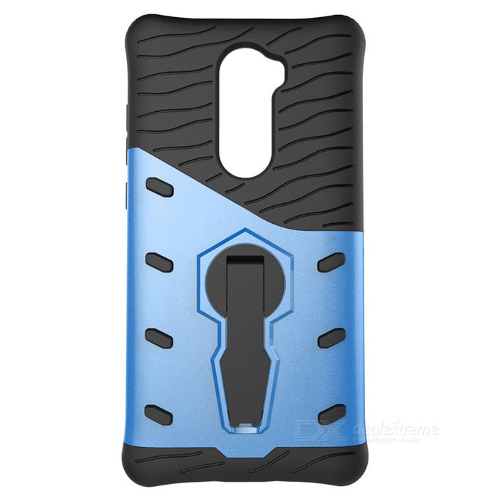 TPU + PC Protective Back Case for Xiaomi 5S Plus - Black + Blue
