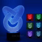 3D Stereo Round Two-Loop Style LED Night Light Color-changing Lamp