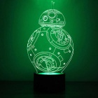 1.5W 3D Stereo Round BB-8 LED Touch Night Light Color-changing Lamp