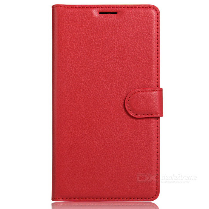 Lichee Pattern Flip-Open PU Leather Case for Google Pixel - Red