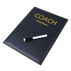 Foldable Magnetic Football Coach Tactics Board - Black + White