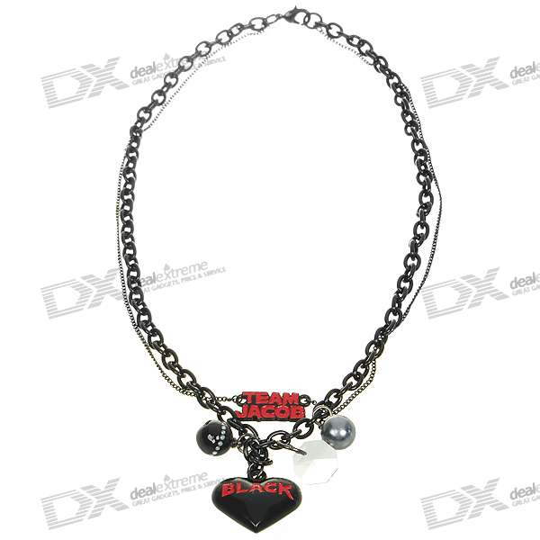 Twilight Character Jewelry - Eclipse Team Jacob Double Chain Charm Necklace