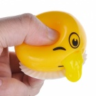 Funny Spoof Vomiting Egg Tricky Toy Squeezed Silicone Gadgets - Yellow