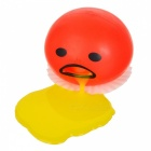 Funny Spoof Vomiting Egg Tricky Toy Squeezed Silicone Gadgets - Red