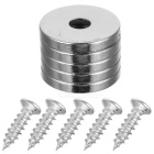 20 * 3 * 5mm Round Hole NdFeB Magnets (5 PCS) w/ Screws (5 PCS)