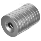20 * 3 * 5mm Round Hole NdFeB Magnets (10 PCS) w/ Screws (10 PCS)