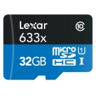 Lexar LSDMI32BBEU633A 633x 32GB Micro SDHC UHS-I with SD Adapter
