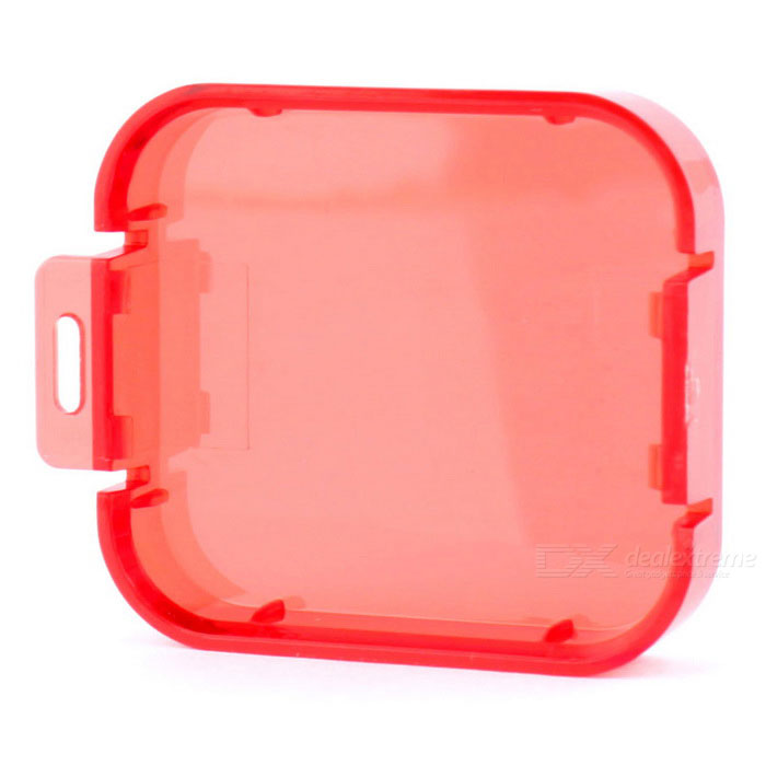Professional Diving Housing Filter Cover for GoPro Hero 5 - Red