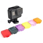 Professional Diving Housing Filter Cover for GoPro Hero 5 - Purple