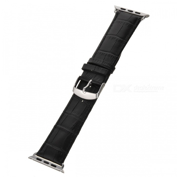 Bamboo Style Leather Watchband for APPLE WATCH 42mm - Black