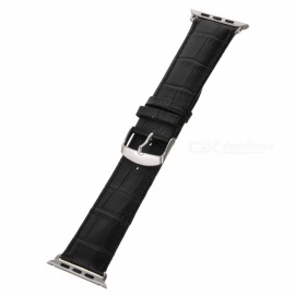Bamboo Style Leather Watchband for APPLE WATCH 38mm - Black