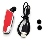 Escalable clip tipo auricular inalámbrico bluetooth - rojo