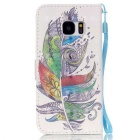 BLCR Colorful Feather 3D Pattern Protective Case for Samsung Galaxy S7
