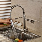 High-quality Nickel Brushed Brass Pull-out / Pull-down Kitchen Faucet