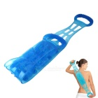Soft Rubber Bathroom Rub Back Strap for Bathe Massage - Ocean Blue