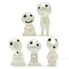 Cute Kodama Style Luminous Tree Gardening Pots Decorative Doll (5PCS)