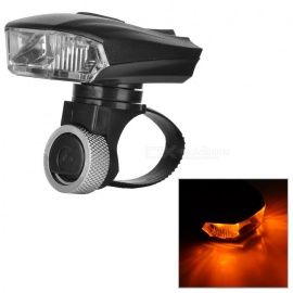3-LED 5-Mode Cool / Warm White Head Light for Bicycle Riding - Black