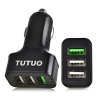 Tutuo QC-115 QC3.0 carregador do carro do USB 3-Port USB para o telefone móvel