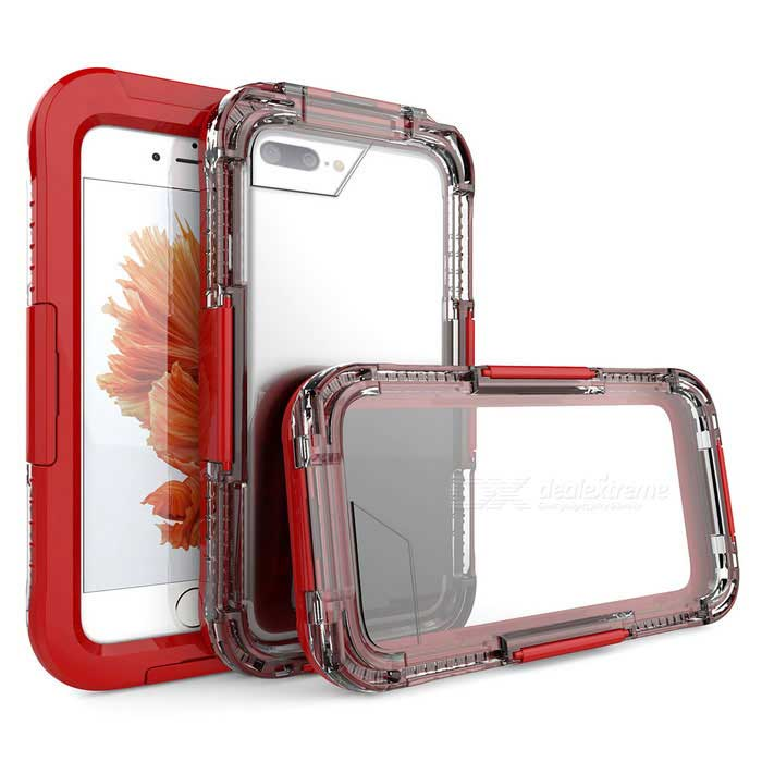 10m Waterproof Case w/ Touch Screen for IPHONE 7 Plus - Red