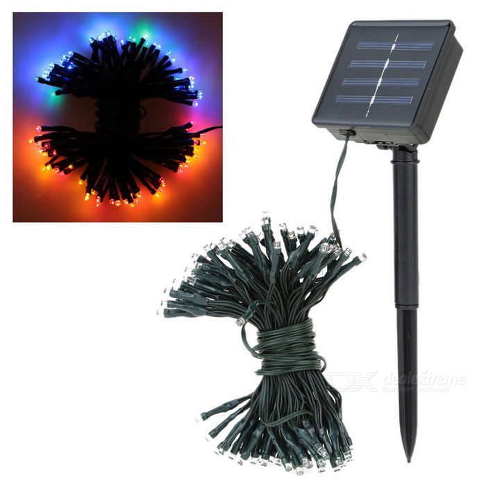 17m 100-LED Colorful Solar-Powered String Lights for Christmas Party