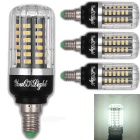 YouOKLight E12 5W 56 SMD-5736 LED Cold White Corn Bulbs (4 PCS)