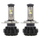 MZ H4 6000K DC9-30V 100W LED Cool White Light Car Headlight - Black