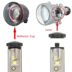 MZ 9007 6000K DC9-30V 100W LED Cold White Light Car Headlight - Black