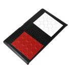 Portable Red + White Pieces Wallet Magnetic Folding Draughts Set