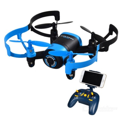 JXD 512W 2.4GHz FPV 4-Axis RC Quadcopter w/ 0.3MP Camera - Black +Blue