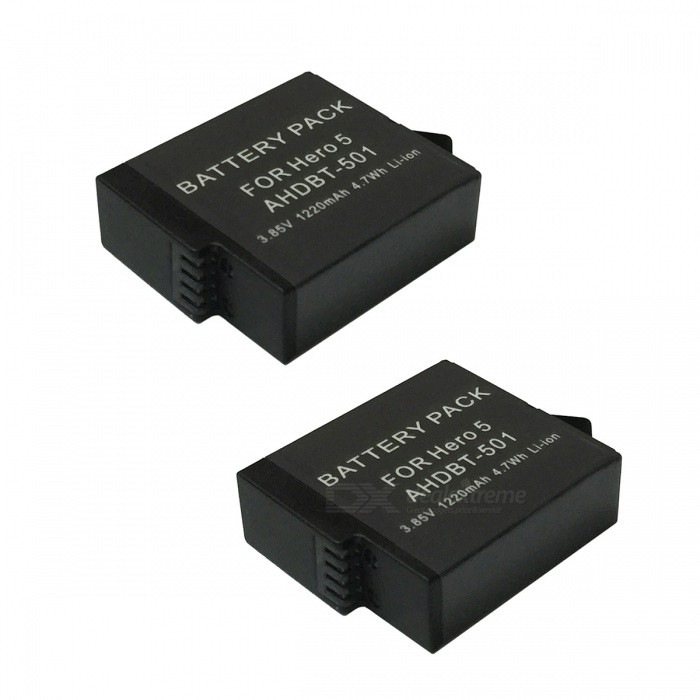 Ismartdigi 3.85V 1220mAh 4.7Wh Li-ion Batteries for Gopro Hero 5