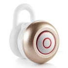 Mini Stereo Sound Wireless Bluetooth 4.1 In-ear Headset - White + Gold