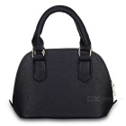 F001-3 Fashion Women's Handbag Shell Crossbody Bag - Black