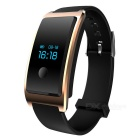 Smart Bracelet w/ Heart Rate Monitor, Pedometer - Black + Gold