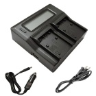 Ismartdigi LCD Dual Battery Charger for Sony FH FV FP Battery - Black