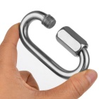 10.0mm Stainless Steel Safety Lock Quick Link Buckle - Silver