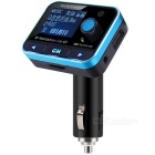 OURSPOP FM01 Bluetooth Car FM Transmitter w/ MP3 Player - Black + Blue