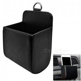 ZIQIAO Auto Air Conditioning Air Outlet Storage Hanging Box - Black