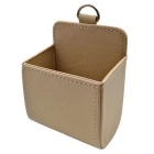 ZIQIAO Auto Air Conditioning Air Outlet Storage Hanging Box - Beige
