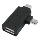 Cwxuan Type-C / Micro USB to USB OTG Adapter for Smart Phones / Tablet