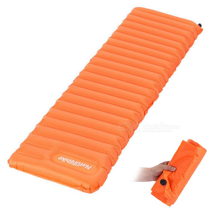 NatureHike Inflatable Sleeping Mattress - Orange (183 * 50 * 9cm)Sleeping Pad<br>Form ColorOrangeModelNH15T051-PQuantity1 DX.PCM.Model.AttributeModel.UnitMaterial80% nylon + 20%TPU+ copper gas nozzleBest UseFamily &amp; car camping,Backpacking,Camping,Mountaineering,Travel,FishingSleeping Pad TypeAir PadSleeping Pad ShapeSemi RectangularPacking List1 * Inflatable cushion<br>