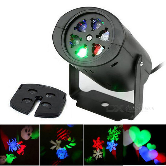 LED Snowflake ABS Projector Lamp Lighting for Christmas Party - BlackChristmas Gadgets<br>Form ColorBlackMaterialABSQuantity1 DX.PCM.Model.AttributeModel.UnitSuitable holidaysChristmas,UniversalColor BINRGBPower4 DX.PCM.Model.AttributeModel.UnitRate Voltage85~260VPower AdapterUS PlugsPacking List1 * Projection lamp<br>
