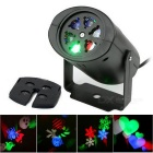 LED Snowflake ABS Projector Lamp Lighting for Christmas Party - Black