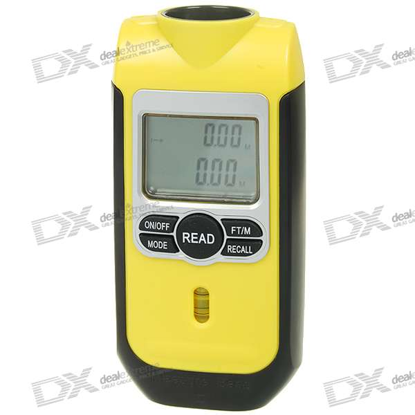 2.0 LCD Ultrasonic Range/Distance Meter with Laser Guide (0.5m~18m/1*6F22)