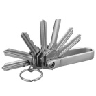 FURA HA-III Hard Oxidation Aluminum Alloy Key Holder Oragnizer - Grey