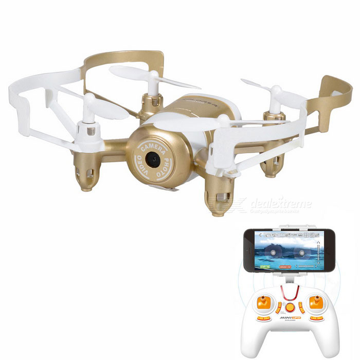 JXD 512DW 2,4 ГГц Wi-Fi FPV 4-CH мини RC Quadcopter - золото + белый