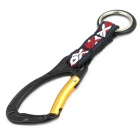 Lanyard Ribbon Zinc Alloy Mountaineering Bottle Buckle - Black +Golden